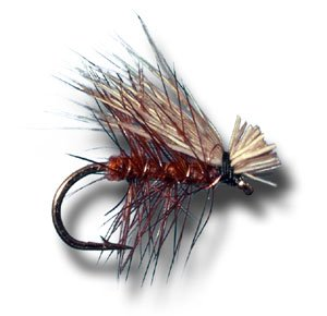 Elk Hair Caddis – Brown Fly Fishing Fly – Size 12, Outdoor Stuffs