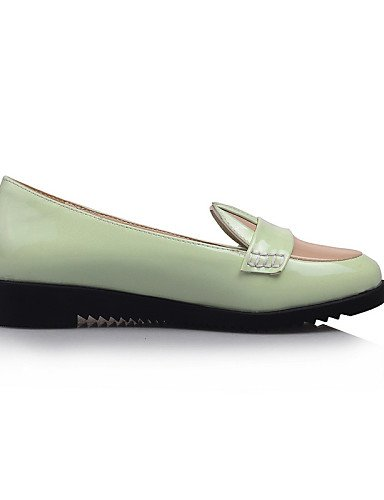 eu34 4 de 5 cn33 redonda us4 punta uk2 green charol negro Flats verde PDX zapatos tacón 2 Casual de 5 bajo rosa mujer SdaqUaw