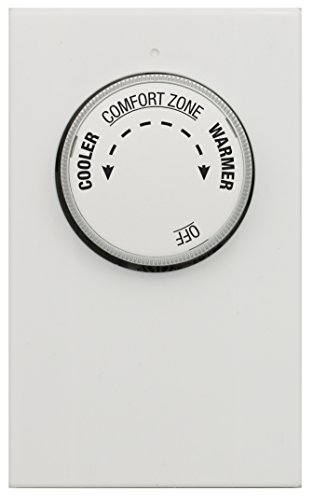 Lux LV21-005 Thermostat, Mechanical 120/240 Line Voltage Heat Only Double Pole - 4 Wires Double Pole Line Voltage Thermostat