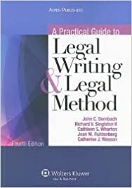 Book A Practical Guide To Legal Writing & Legal Method 4th (forth) edition