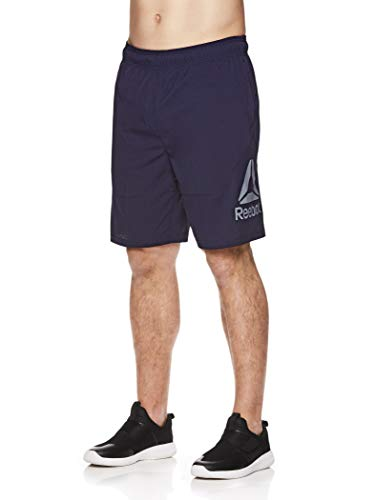 - Reebok Men's Lightweight Workout Gym & Running Shorts w/Elastic Drawstring Waistband & Pockets - 9 Inch Inseam - Internal Training Navy, Large
