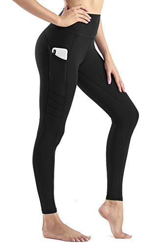 Sunzel Yoga Pants for Women with Pockets High Waist Workout Running Leggings Tummy Control 4-Way Stretch