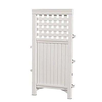 Suncast Outdoor Garden Yard 4 Panel Screen Enclosure Gated Fence, White