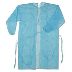 Disposable Blue Isolation Gown Size: Universal Qty: 50 per Case