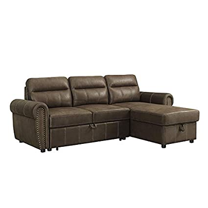 Amazon.com: Sectional Sofa with Reversible Storage Chaise 2 ...