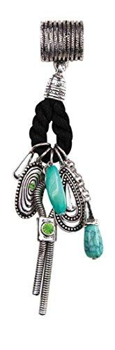 Bejeweled Slide (Isabella's Journey Women's Western Lariat Turquoise Rope Scarf Charm Necklace Pendant Slides, IJCHSA7, 7.5