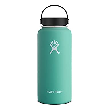 Hydro Flask 40 oz Vacuum Insulated Stainless Steel Water Bottle, Wide Mouth w/Flex Cap, Mint