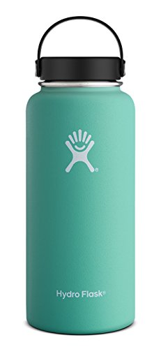 Hydro Flask 40 oz Vacuum Insulated Stainless Steel Water Bottle Wide Mouth wFlex Cap Mint