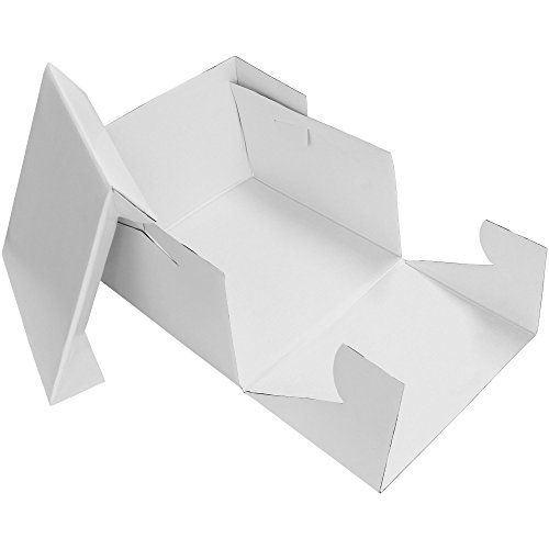 PME CBO809 15'' x 6'' Square Cake Box, Standard, White by PME
