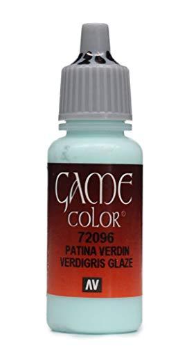 Vallejo Game Color Acrylic Patina Verdin Verdigris Glaze 17ml Jar #72096