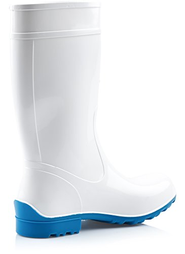 Ladeheid Botas Azul de LA Antideslizantes Mujer Zapatos Agua Seguridad 967 de Blanco Rqgqc4O