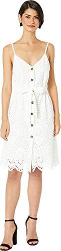 - Bishop + Young Women's Crochet Button Down Dress White Small