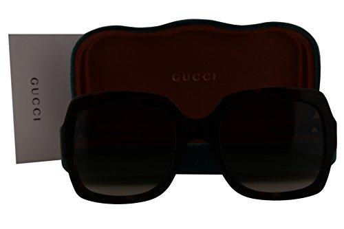 Gucci GG0036S Sunglasses Havana w/Gray Gradient Lens 004 GG - Gg0036s Gucci Sunglasses