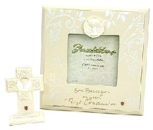 First Communion Gift Pack Set ~ Photo Frame & Cross by Foundations