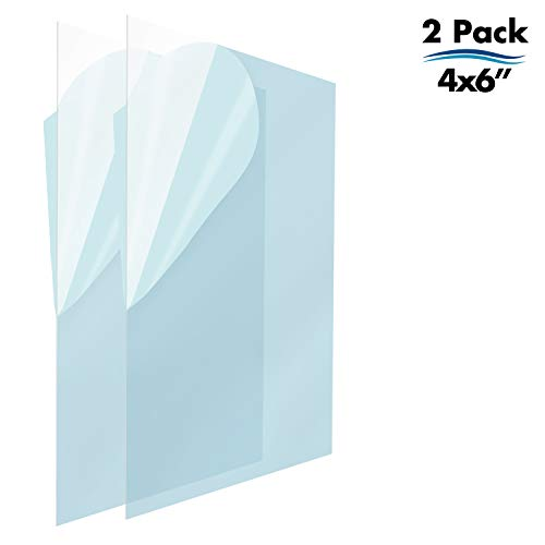 - Icona Bay PET Replacement for Picture Frame Glass (4 x 6, 2 Pack) PET is Ideal Replacement Glass Material, Avoid Glass Shattering, Your Superior Replacement Picture Frame Glass Has Arrived