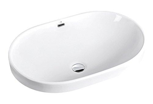 BHD 7022–Lavandino in ceramica, colore: bianco