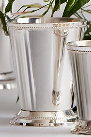Serene Spaces Living Classic Silver Plated Julep Cup, Measures 3'' Diameter and 3.5'' Tall