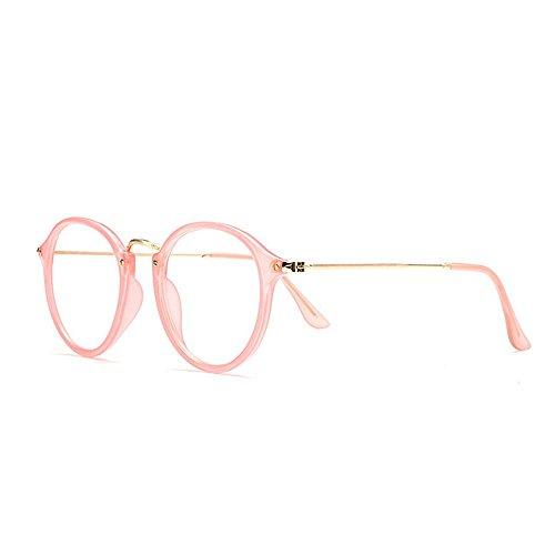 Hombres Mujeres para Unisex plástica Gafas Masculina Gafas Retro y Simple Femenina Marco y Sol Rosado Print Animal Gafas Clásica de de Mujer Sol de de Marco Color de IHw7Tqa