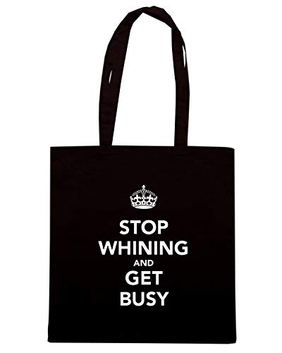 CALM BUSY TKC1315 Shirt Borsa Shopper Nera Speed KEEP AND GET xAYqga