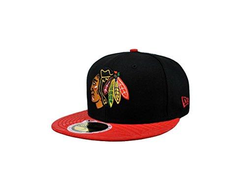 New Chicago Blackhawks Nhl Cap - New Era Print Trance NHL Chicago Blackhawks Fitted Cap (7 1/4)