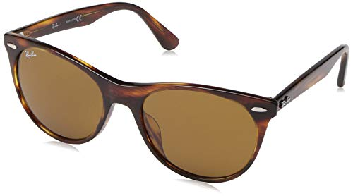 Ray-Ban RB2185F Wayfarer II Asian Fit Sunglasses, Striped Havana/Brown, 55 - Mens Striped Sunglasses