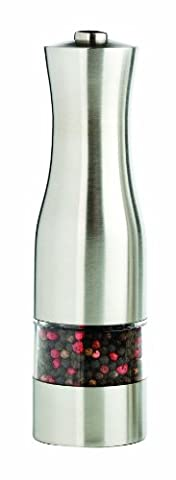 MIU France Stainless Steel Electric Pepper Mill, Silver - Stainless Steel Electric Pepper Mill