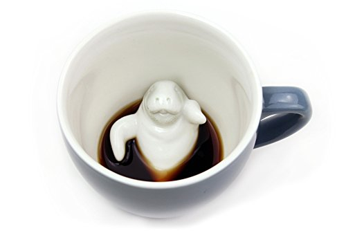 Creature Cups Manatee Cup (11 Ounce, Wedgewood Blue)