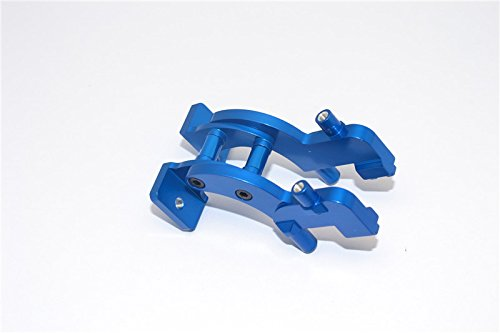 Traxxas 1/16 Mini E-Revo Upgrade Parts Aluminum Rear Wing Mount - 1 Set Blue - Rear Wing Mount Set