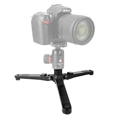 3-Legs Monopod Base Stand Travel Portable Tabletop Tripod Feet with 3/8-16 Female to 1/4-20 Male Tripod Thread Reducer Screw Monopods, 30kg/66lbs Max. Load for DSLR Cameras