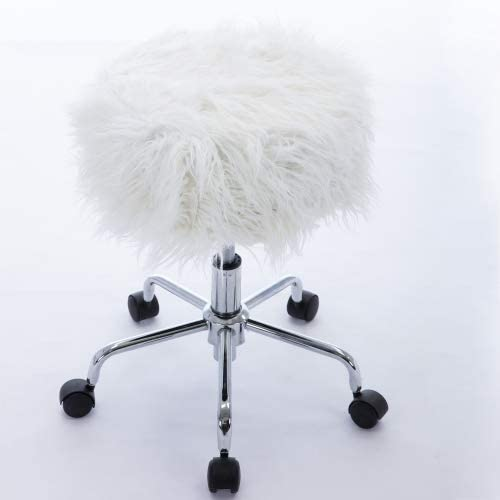 GetNature Faux-Fur Adjustable Seat Height Office Chair for Office Home