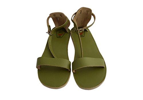 Natleat Slippers ,  Mädchen Damen Durchgängies Plateau Sandalen Grün