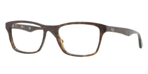 Ray-Ban Men's Rx5279 Square Eyeglasses,Dark Havana,55 - Ban Amazon Ray Eyeglasses