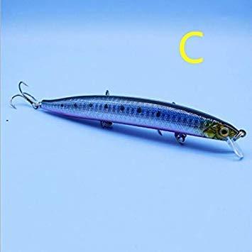 Sellify Esche da Pesca - esche da Pesca - Giappone Artificiale Minnow esche 13,5 centimetri / 20g Crankbait 5 Colori Attrezzatura di Pesca - (Colore: C): C