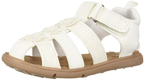 - Carter's Every Step Perry Baby Girl's Walking Fisherman Sandal, White 4 M US Infant