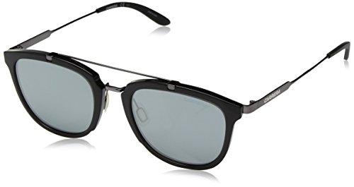 (Carrera Men's Ca127s Square Sunglasses, Gray Ruthenium/Black Mirror, 51 mm)