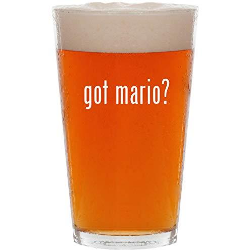 got mario? - 16oz All Purpose Pint Beer Glass (Paper Mario Sticker Star World 1 4)