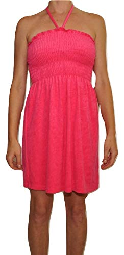 Juicy Couture Micro Terry Smoked Halter Dress (Berry Pink, Small) ()