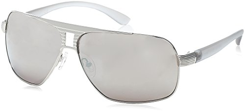 Guess Sunglasses - 6512 / Frame: Silver with Gray Temples Lens: Gray with Silver - Sun Glasses Guess