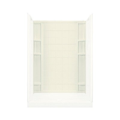 Sterling 72132100-96 Ensemble Vikrell 60-In X 72.5-In Shower Back Panel, Biscuit