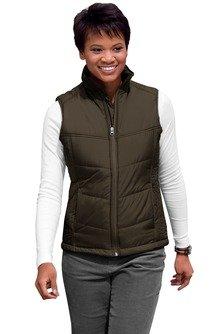 Port Authority Women's Puffy Vest L Espresso/Foliage Green
