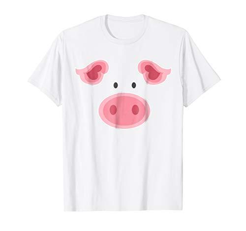 Cute Pig Face TShirt, Mini Pig Halloween Costume ()