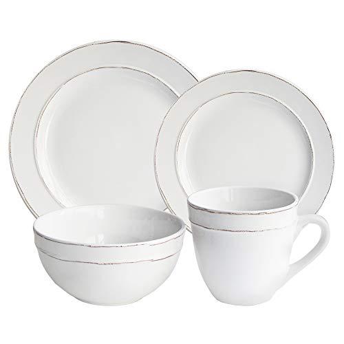 American Atelier Olivia Round 16 Piece Dinnerware Set, White