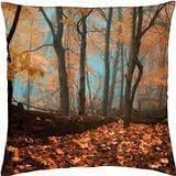 Blues of fallen leaves - Throw Pillow Cover Case (18