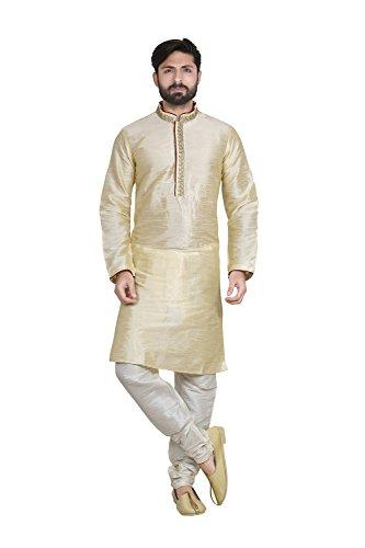 Indian Traditional Partywear Ethnic Moti Kurta Pajama for Mens Set of 2 by Indianfashion Store