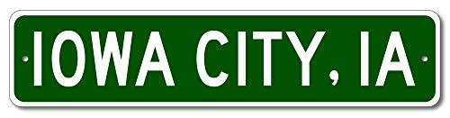 Iowa City, Iowa - USA City and State Street Sign - Aluminum 4