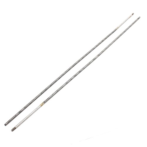uxcell 2Pcs Replacement Square Dual Ends Black Metal Flexible Cable Drive Shaft 410mmx4mm for RC Model Ship Boat ()