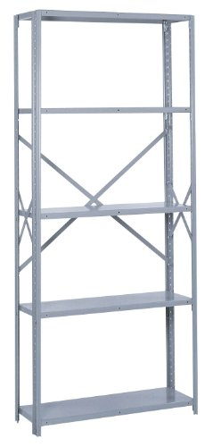 Lyon PP8714M Commercial Stand Alone Open Offset Angle Shelving with (Open Offset Angle Shelving)