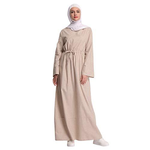 Women's Muslim Islamic Open Front Imitated Pearls Maxi