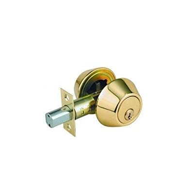 Lion Locks LDCO101 Single Cylinder Deadbolt, Polished Brass
