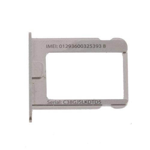 Móviles y telefonía SIM CARD TRAY HOLDER VASSOIO PORTASIM COMP IPHONE 4-4S SILVER ARGENTO